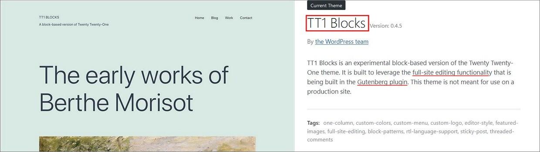 Full Site Editing in WordPress mit Theme TT1 Blocks