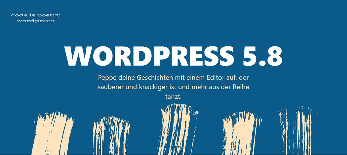 WordPress 5.8 erscheint am 20. Juli 2021