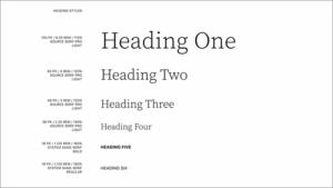 Theme 2022 Typografie Design für Headings